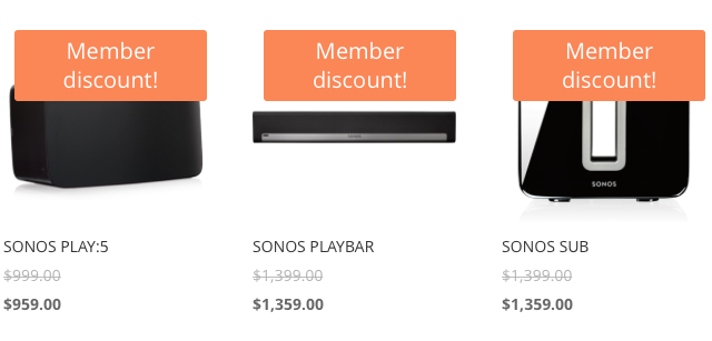 Get the best price for SONOS products in New Zealand