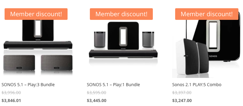 Get BUNDLE PRICING on SONOS products with CODA REWARDS